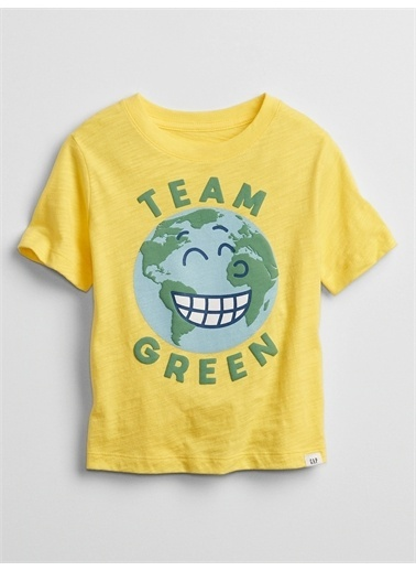 Gap Grafik Desenli T-Shirt Sarı